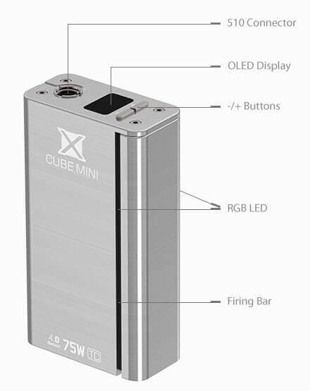 Xcub 75W Smoktech dimensions